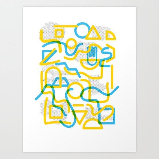 Shapes and Stuff Art Print
