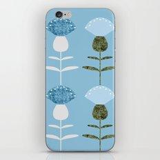 MCM Basket Flower Blue iPhone Skin