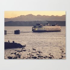 Puget Sound Ferry Canvas Print