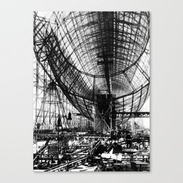 Airship under construction Canvas Print