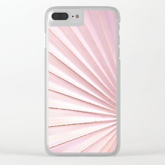 Fan palm - pink Clear iPhone Case