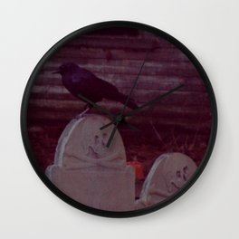 The Crow, Point of Grave Burial Ground Wall Clock