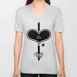 Love. (Black)  Unisex V-Neck