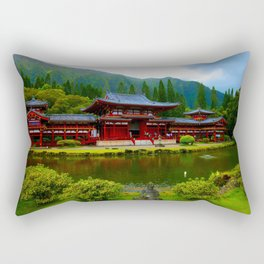 Temple Valley Buddah ... By LadyShalene Rectangular Pillow