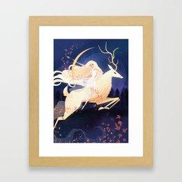 Artemis and the Ceryneian Hind Framed Art Print