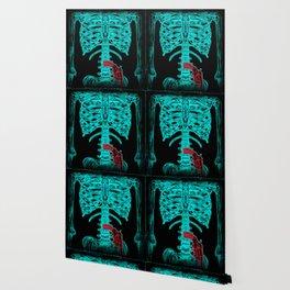 Human Xray with Gun Wallpaper