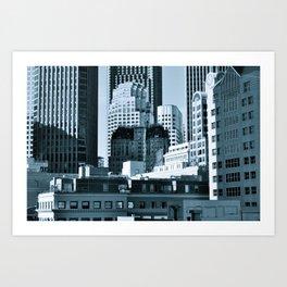 Urban Shades of Gray Art Print