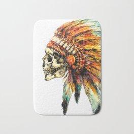 Skull Colorful Chief Bath Mat