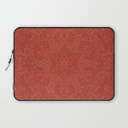 Sonora Brown Rust Mandala With Red Well Read Backdrop Laptop Sleeve