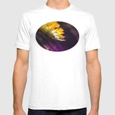 Iris in purple MEDIUM White Mens Fitted Tee