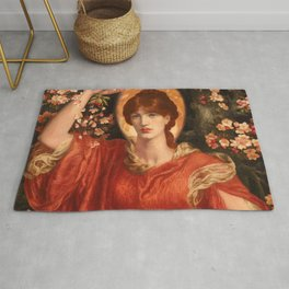 """Dante Gabriel Rossetti """"A vision of Fiammetta"""" Rug"""