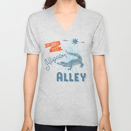 Alligator Alley Swamp Sanctuary Florida Unisex V-Neck
