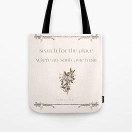 search for the place Tote Bag