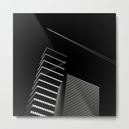 architecture in Moiré | Abstract Skyscraper #1 Metal Print