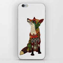 fox love off white iPhone Skin