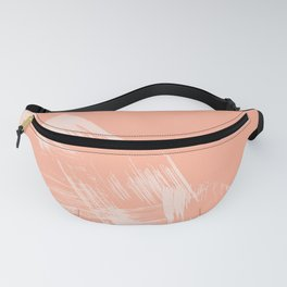 Sweet Life Paint Swipes Peach Coral Pink Fanny Pack
