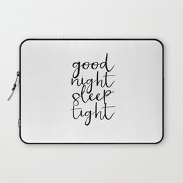 Bedroom Decor Good night Poster Handwriting Print Bedroom Art CHILDREN ROOM DECOR Good Night Laptop Sleeve