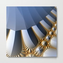 Pleated abstract with gold and jewels Metal Print
