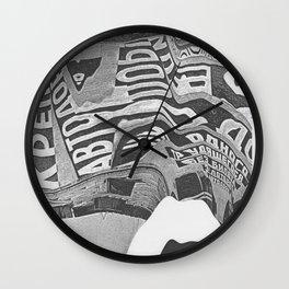 Constructivism Scan Wall Clock