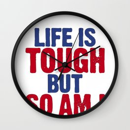 Life Is Tough But So Am I Concussion Awareness Day Wall Clock