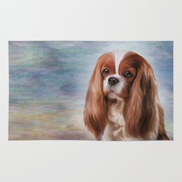 Drawing Dog breed Cavalier King Charles Spaniel Rug