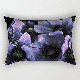 Dark Anemone Flowers Rectangular Pillow