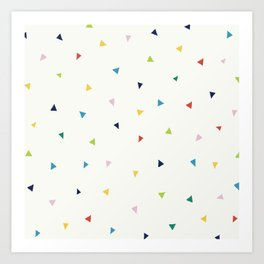 Cute Confetti Pattern Art Print