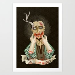 The Lost Boy - Bloody Version Art Print