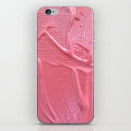 Pink Paint Texture Painting iPhone Skin