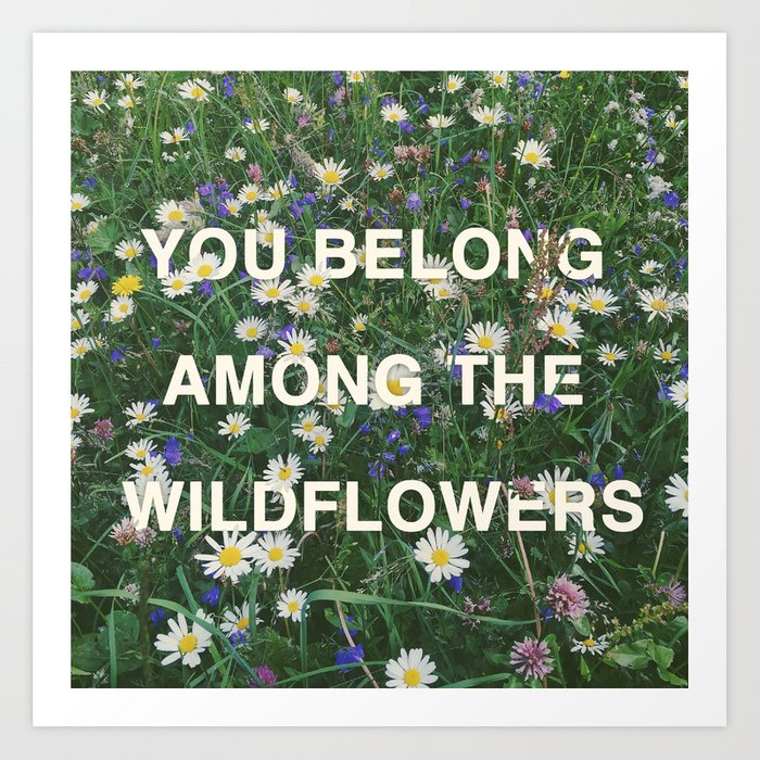 Wildflowers - Tom Petty Quote Art Print by lauragalante