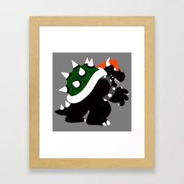 Nintendo Forever - Bowser King of the Koopas Framed Art Print
