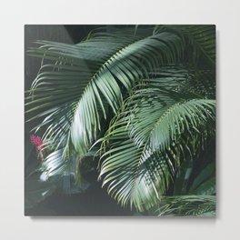Tropical Rainforest Leaves in Paradise Metal Print