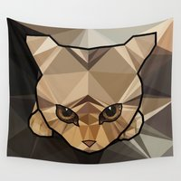 kitten Wall Tapestries featuring Kitten  by Angel Decuir