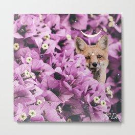 Lunar Fox Metal Print
