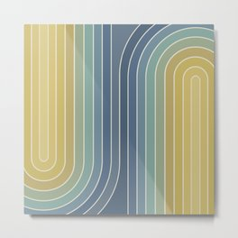 Gradient Curvature VIII Metal Print
