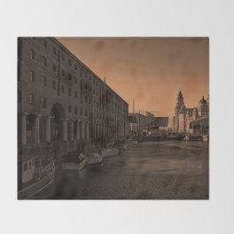 Albert Dock And the Pier Head Throw Blanket