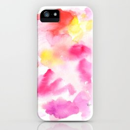 Pink watercolors iPhone Case
