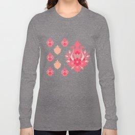 Shah-Abbasi Flower Pattern (Pink) Long Sleeve T-shirt