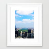 central park Framed Art Prints featuring Central Park by NaturallyJess