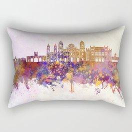 Cadiz skyline in watercolor background Rectangular Pillow