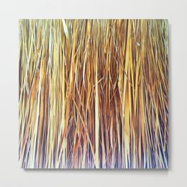 434 - Abstract grass design Metal Print