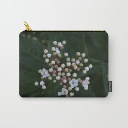 Viburnum tinus buds and flowers Carry-All Pouch