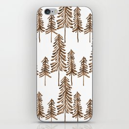 Pine Trees – Sepia Palette iPhone Skin