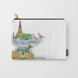 Bangkok, Breakfast, Bird Bath Carry-All Pouch