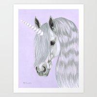 The Last Unicorn - Pastel Portrait Art Print