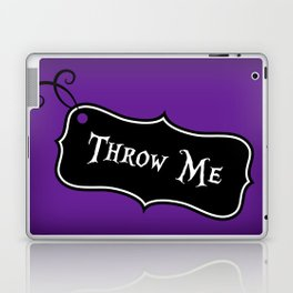 """""""Throw Me"""" Alice in Wonderland styled Bottle Tag Design in 'Shy Violets' Laptop & iPad Skin"""