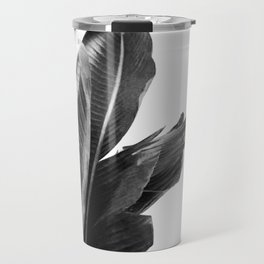 Bird of Paradise Plant Black and White 02 Travel Mug
