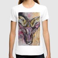 goat T-shirts featuring Goat by Derek Boman