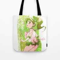 sailor jupiter Tote Bags featuring Sailor Jupiter by Peach Mork
