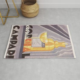 Vintage 1941 Cordial Campari Advertisement by Nicolay Diulgheroff Rug